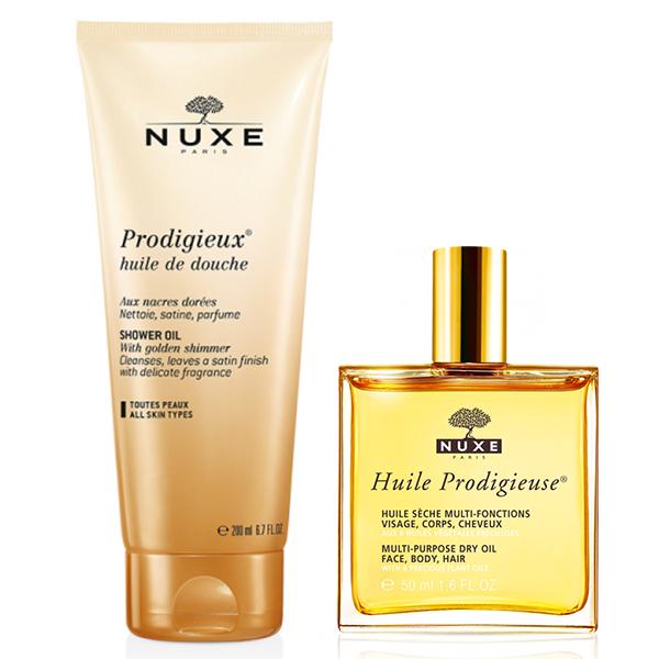 Nuxe prodigieux coffret cadeau huile prodigieuse huile de douche parapharmacie pharmarket - Demangeaisons jambes apres douche ...