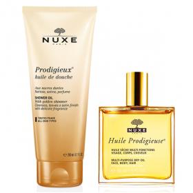 NUXE Prodigieux coffret cadeau huile prodigieuse + huile de douche