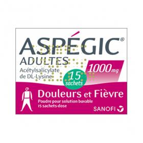 SANOFI Aspégic adultes 1000mg 15 sachets dose