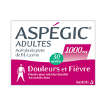 Aspégic adultes 1000mg 30 sachets dose