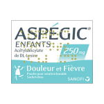 Aspégic enfants 250mg 20 sachets dose
