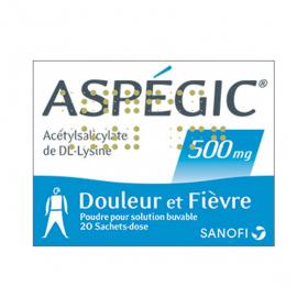 Aspégic 500mg 20 sachets dose