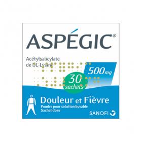 SANOFI Aspégic 500mg 30 sachets dose