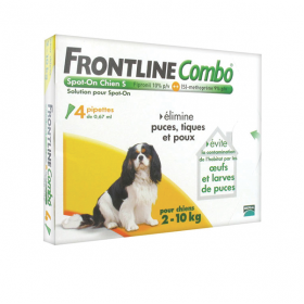 Combo chiens 2-10kg 4 pipettes
