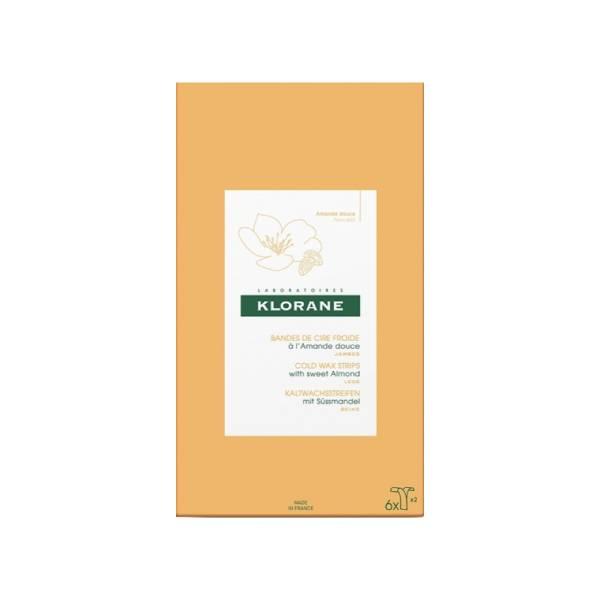 klorane cire froide l 39 amande douce 6 bandes parapharmacie pharmarket. Black Bedroom Furniture Sets. Home Design Ideas