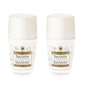 SANOFLORE Nuage de fraicheur roll on lot 2x50ml