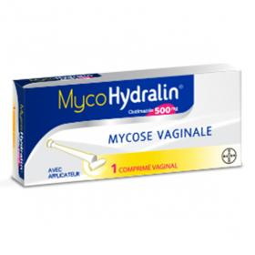 Mycohydralin 500mg 1 comprimé vaginal