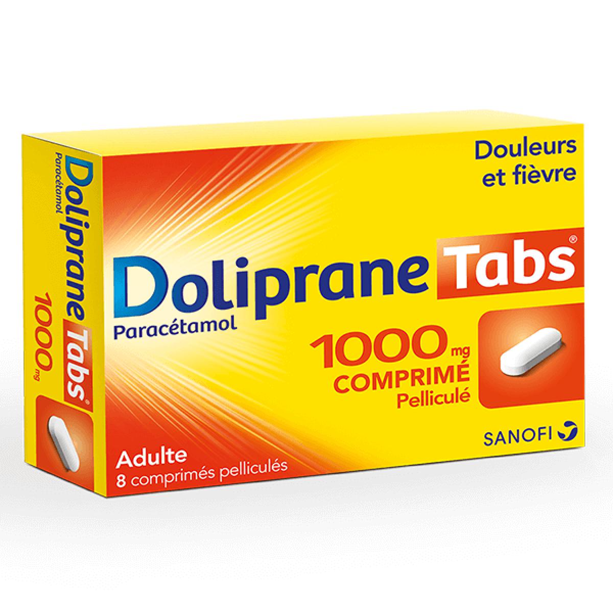 doliprane tabs 1000mg 8 comprim s m dicaments pharmarket. Black Bedroom Furniture Sets. Home Design Ideas