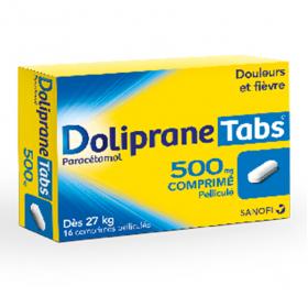 Doliprane tabs 500mg 16 comprimés