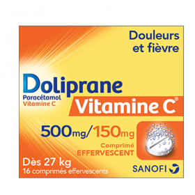 Vitamine c 500mg/150mg 16 comprimés effervescents