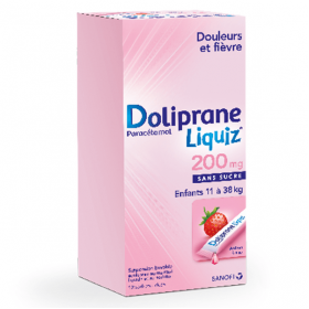 DOLIPRANE Liquiz 200mg 12 sachets