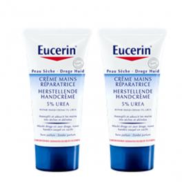 EUCERIN Crème mains réparatrice 5% urée lot 2x75ml