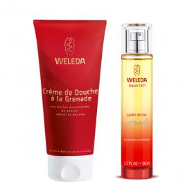 WELEDA Grenade coffret cadeau parfum jardin de vie + crème de douche