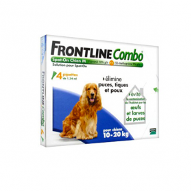 FRONTLINE Combo chiens 10-20kg 4 pipettes