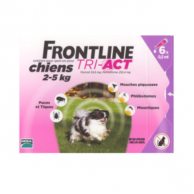 FRONTLINE Tri-act chiens 2-5kg 6 pipettes