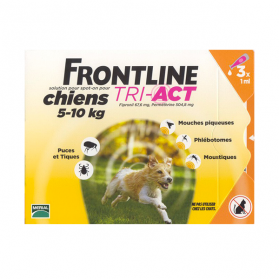 Tri-act chiens 5-10kg 3 pipettes