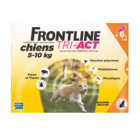 Tri-act chiens 5-10kg 6 pipettes