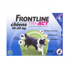 Tri-act chiens 10-20kg 6 pipettes