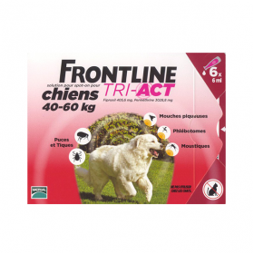 FRONTLINE Tri-act chiens 40-60 kg 6 pipettes
