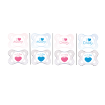 MAM Sucette coeur 0-6 mois silicone lot 2