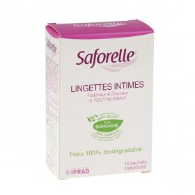 SAFORELLE Lingettes intimes ultra-douces 10 lingettes