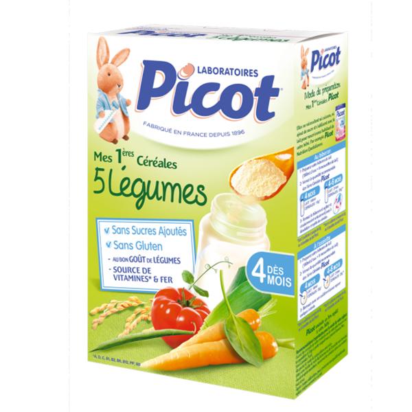 PICOT Mes 1ères céréales 5 légumes 200g - Parapharmacie