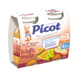 PICOT Ma 1ère boisson aux fruits multi-fruits 2x130ml