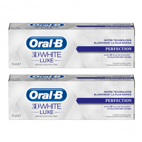 ORAL B 3D white luxe perfection lot 2x75ml