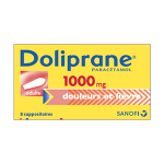 DOLIPRANE Adultes 1000mg 8 suppositoires