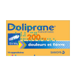 DOLIPRANE 200mg 10 suppositoires