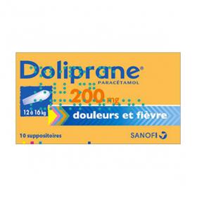 Doliprane 200mg 10 suppositoires