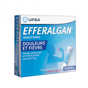 Efferalgan 500mg vanille-fraise granulés 16 sachets
