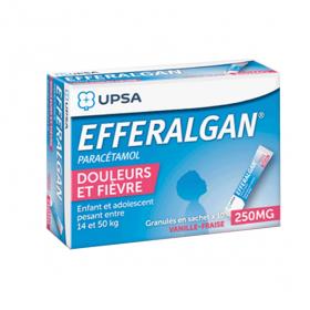Efferalgan 250mg vanille-fraise granulés 10 sachets