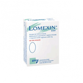 Lomexin 600mg 1 capsule molle vaginale