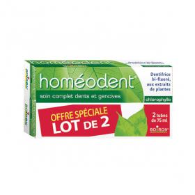 BOIRON Homéodent soin complet dents et gencives chlorophylle lot 2x75ml
