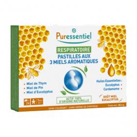PURESSENTIEL Respiratoire pastilles aux 3 miels boite 24
