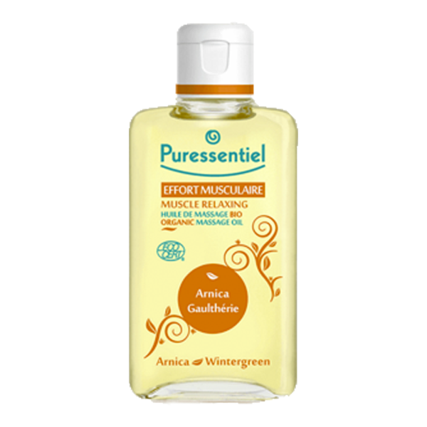 puressentiel effort musculaire huile de massage bio arnica gaulth rie 200ml parapharmacie. Black Bedroom Furniture Sets. Home Design Ideas