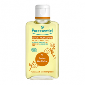 PURESSENTIEL Effort musculaire huile de massage bio arnica gaulthérie 200ml