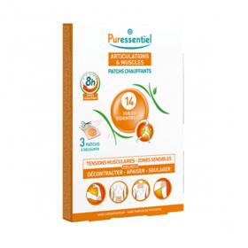 PURESSENTIEL Articulations et muscles patchs chauffants 3 patchs