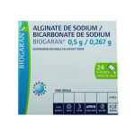 BIOGARAN Alginate de sodium/bicarbonate de sodium 0,5g/0,267g suspension buvable en 24 sachets-doses