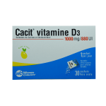 WARNER CHILCOTT FRANCE Cacit vitamine D3 1000mg/880 UI granulés effervescents pour solution buvable en 30 sachets