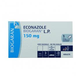 BIOGARAN Econazole L.P. 150mg 1 ovule à libération prolongée