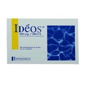Ideos 500mg/400 UI 60 comprimés à sucer ou à croquer