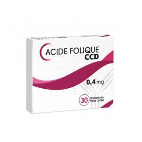 C.C.D Acide folique 0,4 mg 30 comprimés
