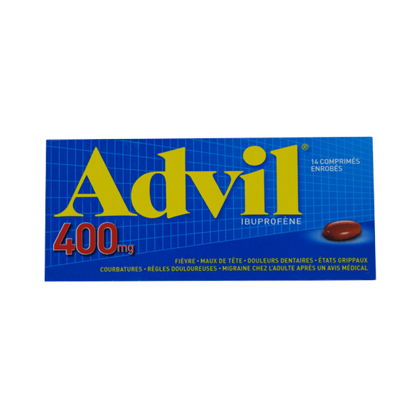 pfizer advil 400mg 14 comprim s enrob s m dicaments pharmarket. Black Bedroom Furniture Sets. Home Design Ideas