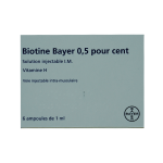 BAYER Biotine 0,5% solution injectable i.m 6 ampoules 1ml