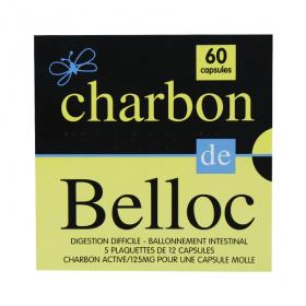 SUPER DIET Charbon de belloc 125mg 60 capsules molles