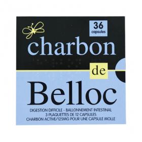 SUPER DIET Charbon de belloc 125mg 36 capsules molles