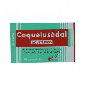 Coquelusedal nourrissons 10 suppositoires