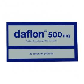 Servier daflon 500mg 30 comprimés pelliculés